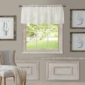 Elrene Home Fashions Addison Semi-Sheer Straight Window Valance, 60 x 17