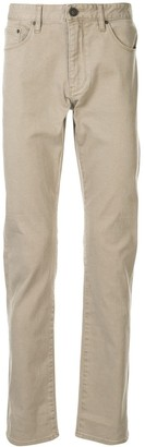 Kent & Curwen Low-Rise Straight-Leg Jeans