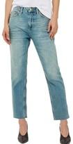 Topshop Petite Women's Raw Hem Straight Leg Jeans