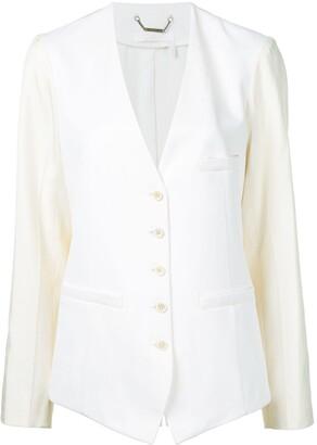 Chloé waistcoat style collarless blazer