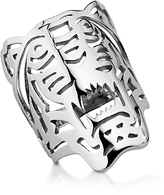 Kenzo Sterling Silver Oversized Tiger Ring