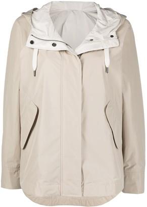 Brunello Cucinelli Hooded Rain Coat