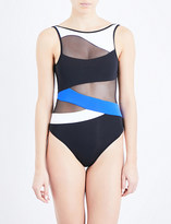 Jets Electrify high-neck swimsuit