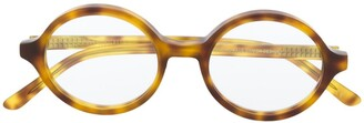 Han Kjobenhavn Round Frame Tortoiseshell Sunglasses