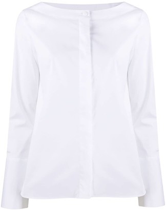 Fay Boat Neck Buttoned Shirt
