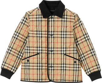 Burberry Culford Archive Check Quilted Jacket