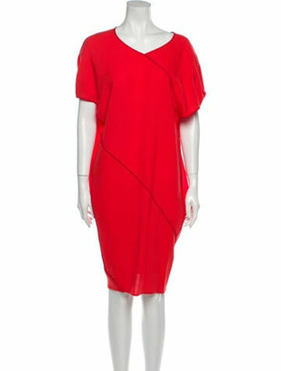 Narciso Rodriguez Virgin Wool Knee-Length Dress w/ Tags Wool