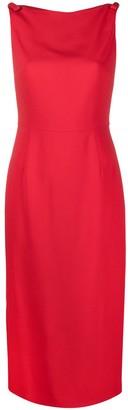 Valentino Boat-Neck Midi Dress