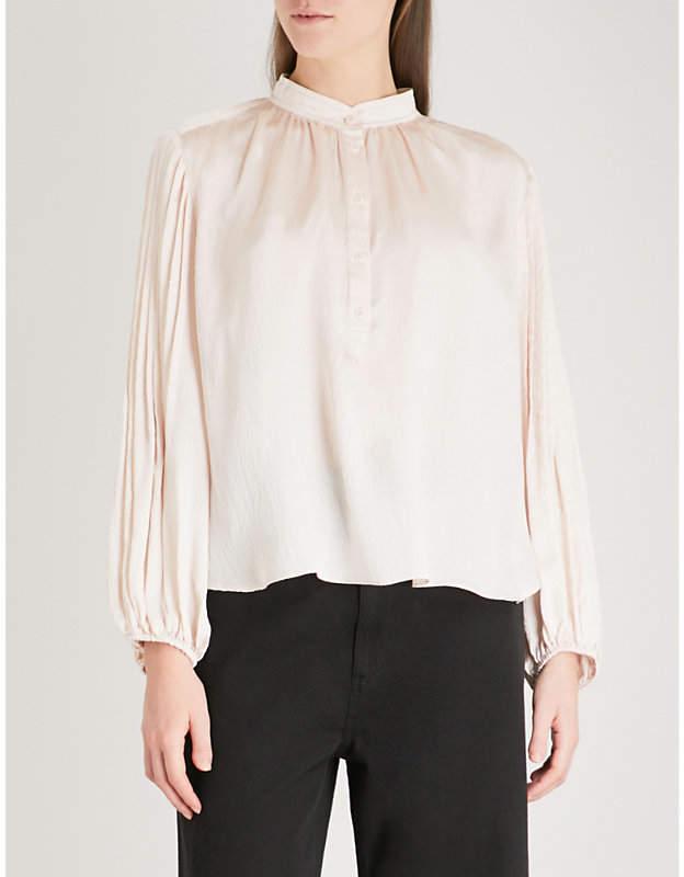 Apiece Apart Bravo silk-satin blouse