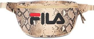 Logo Snake Print Belt Bag