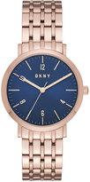 DKNY Women's Minetta Rose Gold-Tone Stainless Steel Bracelet Watch 36mm NY2611