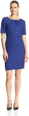 Ellen Tracy Women's Short Sleeve Sheath Dress