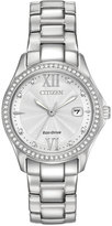 Citizen Women's Silhouette Crystal Jewelry Stainless Steel Bracelet Watch 30mm FE1140-86A, A Macy's Exclusive