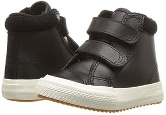 Converse Chuck Taylor(r) All Star(r) 2V Pc Boot - Hi (Infant/Toddler) (Black/Burnt Caramel/Black) Boy's Shoes