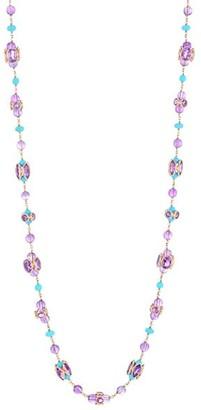 Etho Maria 18K Rose Gold, Amethyst & Turquoise Long Necklace