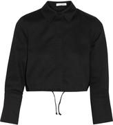 Alexis Monty cropped stretch-cotton piqu&eacute shirt