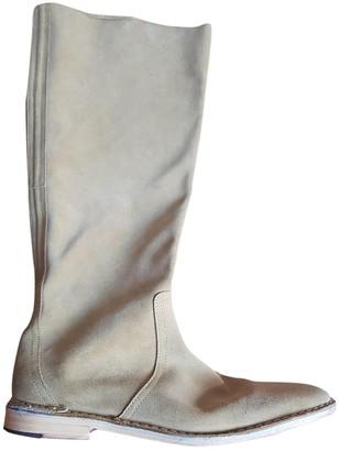 Pierre Hardy Green Velvet Boots