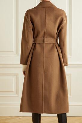 MICHAEL Michael Kors Belted Wool-blend Felt Coat - Brown