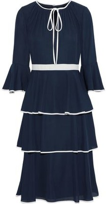 Mikael Aghal Tiered Ruffled Crepe Dress