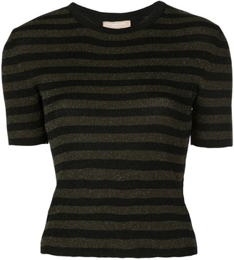 Michael Kors Glitter Striped Top
