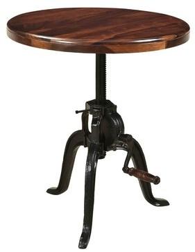 Manthey Adjustable Pub Solid Wood Dining Table Williston Forge