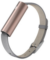 Misfit Misfit Ray- Rose Gold-Tone Stainless Steel/Grey Leather Band