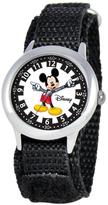 """Disney Mickey Mouse"""" Kid's Stainless Steel Time Teacher Watch- Black Strap"""