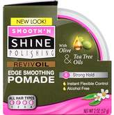Smooth 'N Shine Smooth N Shine Polishing Olive and Tea Tree Revivoil Instant Edge Smoothing Pomade, 2 Ounce (Pack of 6)