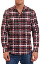 Robert Graham Lido Plaid Sport Shirt, Red