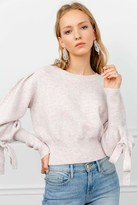 J.ING Boxer Pink Bowed Sweater