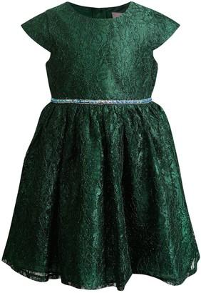 Youngland Girls 4-6x Rhinestone Lace Dress
