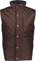 U.S. Polo Assn. Dark Brown Barn Quilted Vest