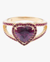 Yi Collection Rhodolite And Ruby Heart Ring