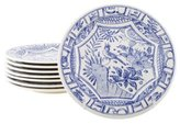 Gien 8-Piece Oiseau Blue Dessert Plate