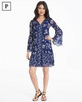 White House Black Market Petite Lace Inset Floral Shift Dress