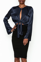Do & Be Satin Tie Blouse
