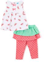 Bon Bebe White Watermelon Tank & Pink Skirted Leggings - Infant