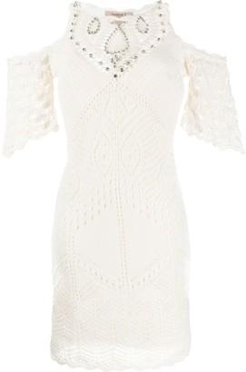 Twin-Set Crochet Cold Shoulder Dress
