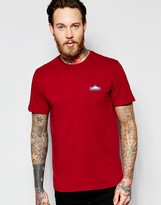 Penfield T-shirt With Mountain Logo In Burgundy Exclusive