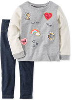 Carter's 2-Pc. Patch Tunic and Leggings Set, Toddler Girls (2T-4T)