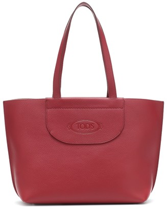 Tod's Logo Medium leather shopper