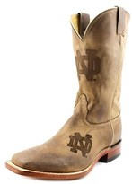Nocona Notre Dame Branded Men Square Toe Leather Western Boot.