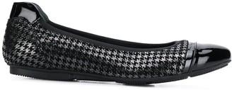 Hogan Houndstooth Ballerina Shoes