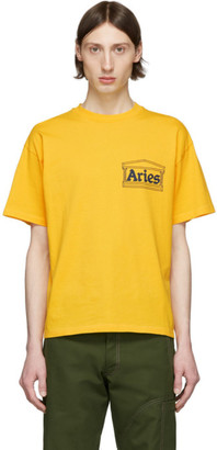 Aries Yellow Classic Temple T-Shirt