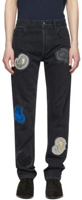 Nahmias Black Paisley Embroidered Jeans