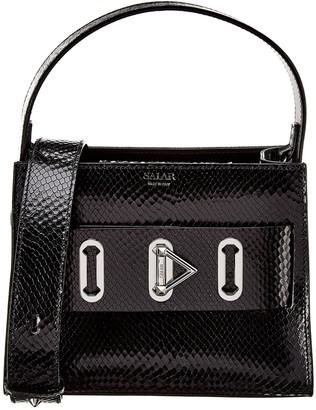 Salar Milano Ludo Snake-Embossed Leather Shoulder Bag