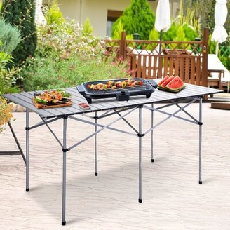 Inbox Zero Roll Up Folding Camping Picnic Table