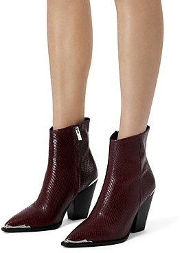 The Kooples Women's Embossed High Heel Booties