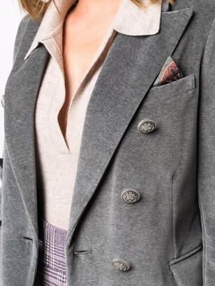 Circolo 1901 Double-Breasted Velvet Blazer