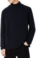 Topman Men's Rib Textured Turtleneck Sweater